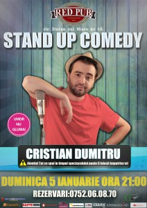 stand up comedy duminica 5 ianuarie constanta
