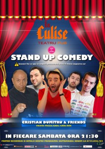Stand-Up Comedy Sambata Bucuresti Culise Comedy Club